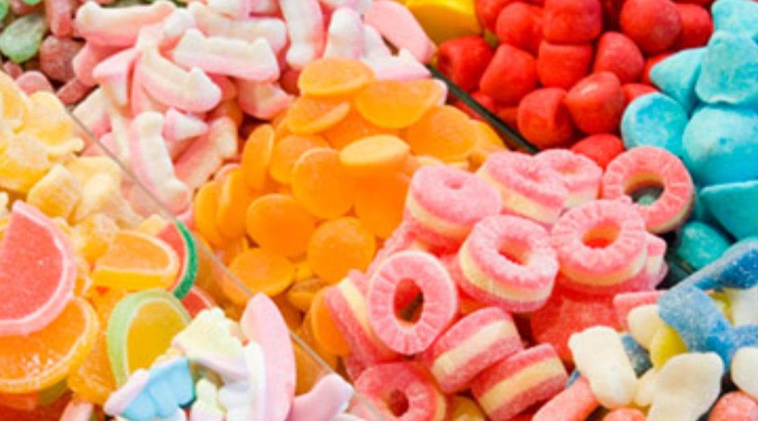 Assorted gummy candies