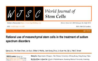 Rational use of mesenchymal stem cells in the treatment of autism spectrum disorders Innate Healthcare