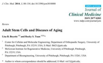 Adult Stem Cells and Diseases of Aging Innate Healthcare