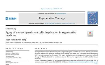 Aging of mesenchymal stem cells- Implication in regenerative medicine Innate Healthcare