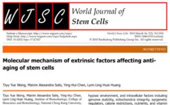 Molecular mechanism of extrinsic factors affecting anti-aging of stem cells Innate Healthcare