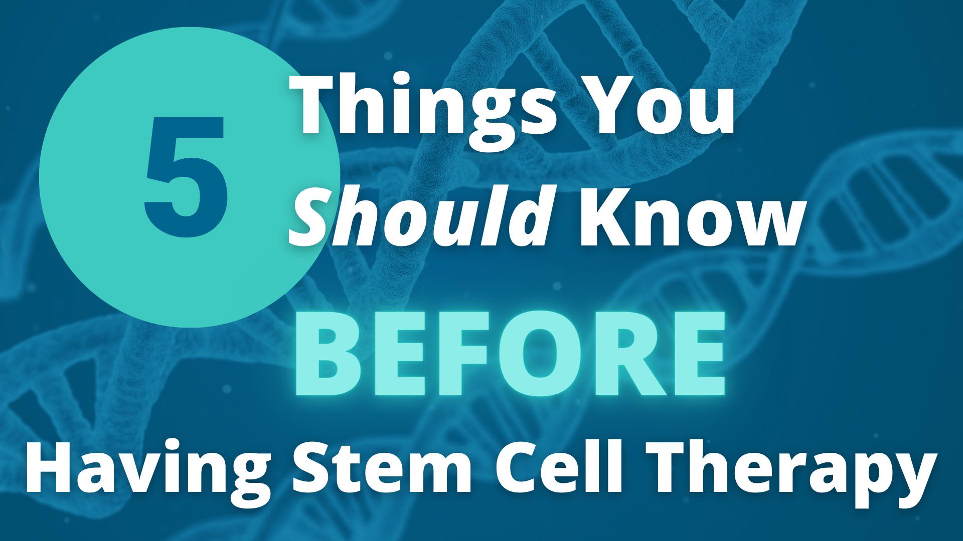 Stem Cell Therapy - Phoenix - AZ